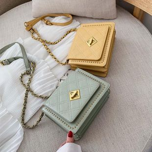 Fashion personality rivet crossbody small square bag NHTC133482's discount tags