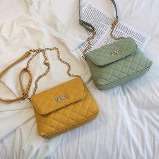 Fashion Chao Han ins shoulder diagonal chain rhombic small square bag NHXC133489's discount tags