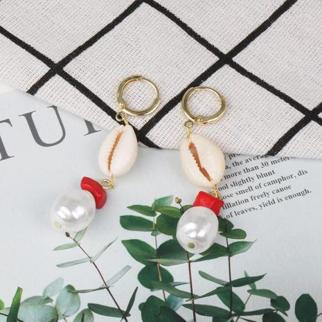Fashion Women Beads Shell Earrings NHJJ133688's discount tags