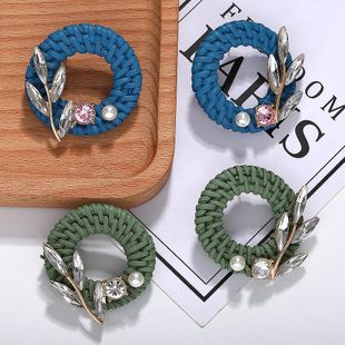 Fashion women rhinestone hand-woven earrings NHJQ133698's discount tags
