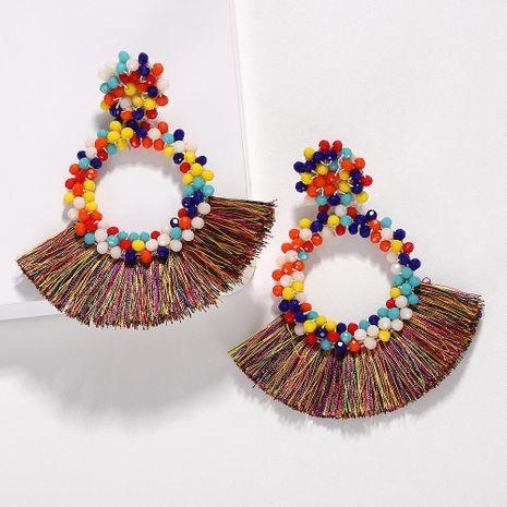 Fashion women beads tassel earrings multicolor NHJQ133706's discount tags
