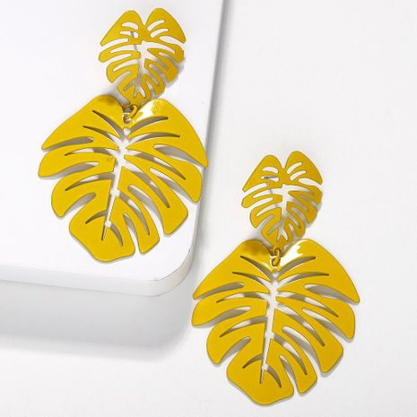 Fashion women leaf alloy earrings NHJQ133713's discount tags