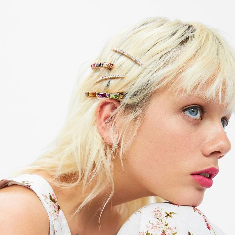 Fashion Women Rhinestone natural stone Hair Clip Set NHJQ133715