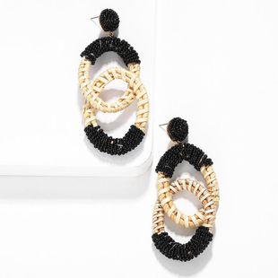 Fashion Women Cane Woven Beads Earrings NHJQ133733's discount tags