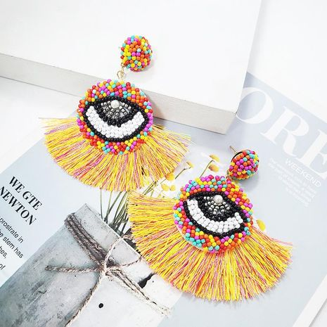 Fashion Women Beads Tassel Eyerings NHJJ133736's discount tags