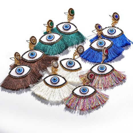 Fashion women fringed eye earrings NHJQ133737's discount tags