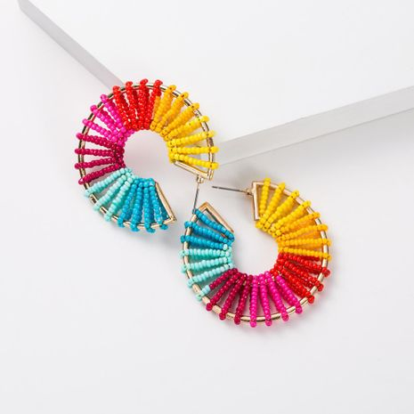 Fashion Women Beads Alloy C-shaped Earrings NHJE133755's discount tags