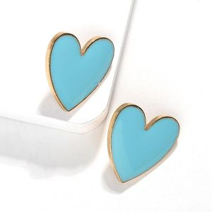 Fashion women alloy heart earrings multicolor NHJQ133786