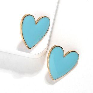 Fashion women alloy heart earrings multicolor NHJQ133786's discount tags