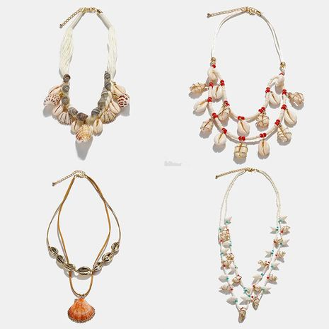 Fashion Women seashell Conch Necklace NHJQ133791's discount tags