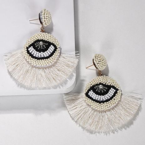 Fashion women hand-woven eye tassel earrings NHJQ133792's discount tags