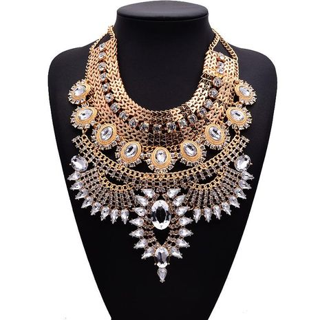 Fashion Women Imitated crystal Alloy Necklace NHJQ133796's discount tags