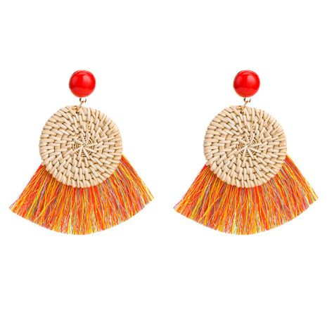 Fashion women vine grass tassel earrings NHJE133798's discount tags