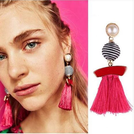 Fashion women colored tassel earrings NHJQ133809's discount tags