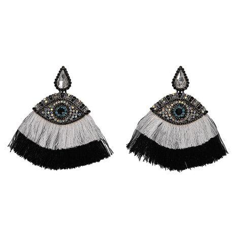 Fashion Women Rhinestone Eye-shaped Tassel Earrings NHJQ133814's discount tags