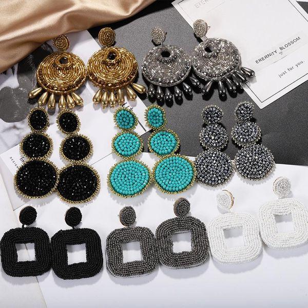 Fashion Women beaded Earrings NHJQ133820