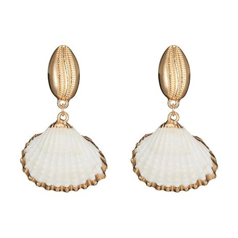 Fashion Ocean Wind Natural Shell Alloy Earrings NHOT133877's discount tags