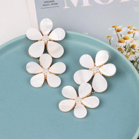 Fashion long acrylic flower earrings NHJJ133887's discount tags