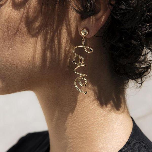 Fashion love letter earrings NHOT133993
