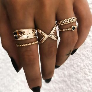 Fashion Moon Star Ring 5 Piece Set NHOT134012's discount tags
