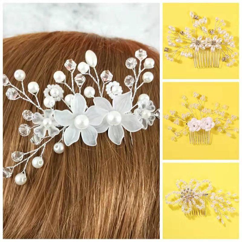 Fashion beads flower handmade alloy hair accessory NHMD134043