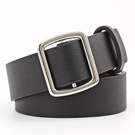 Fashion woman imitation leather smooth buckle belt strap for jeans dress multicolor NHPO134178's discount tags