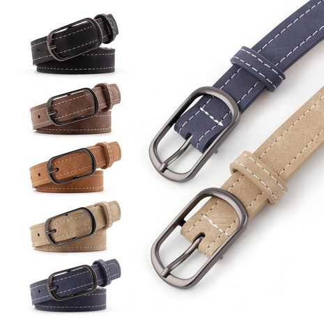Fashion woman faux leather metal buckle belt strap for jeans dress multicolor NHPO134183's discount tags