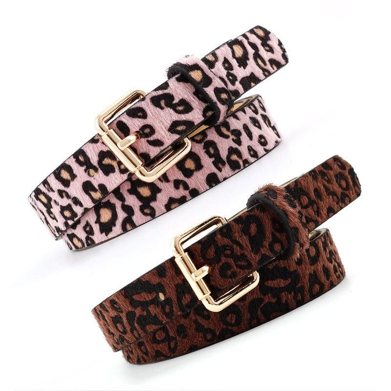 Fashion woman imitation leather leopard metal buckle belt strap for jeans dress multicolor NHPO134184
