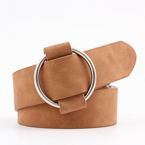 Fashion woman imitation leather smooth buckle belt strap for jeans dress multicolor NHPO134214's discount tags