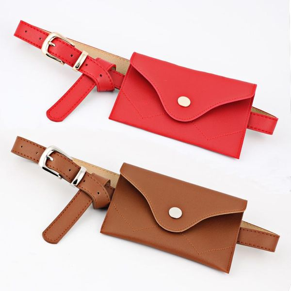 Fashion woman belt PU fanny packs for jeans dress multicolor NHPO134256