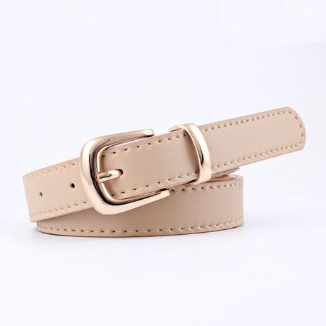 Fashion woman metal pin buckle imitation leather belt strap for jeans dress multicolor NHPO134262's discount tags
