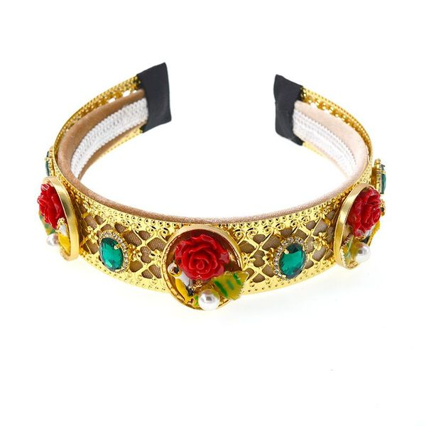 Baroque palace style retro flower holiday headband NHNT134395