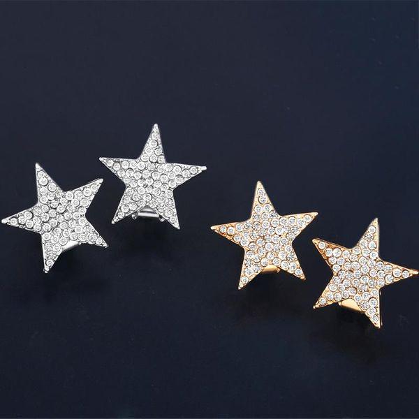 Womens Star-studded Copper Earrings NHAS134410