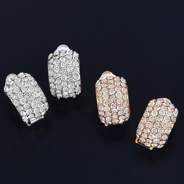 Womens Geometric Rhinestone Boundary Earrings NHAS134416