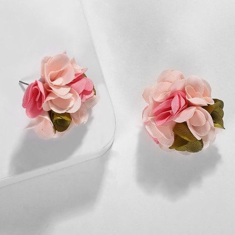Fabric hand-woven floral earrings NHJQ134488's discount tags