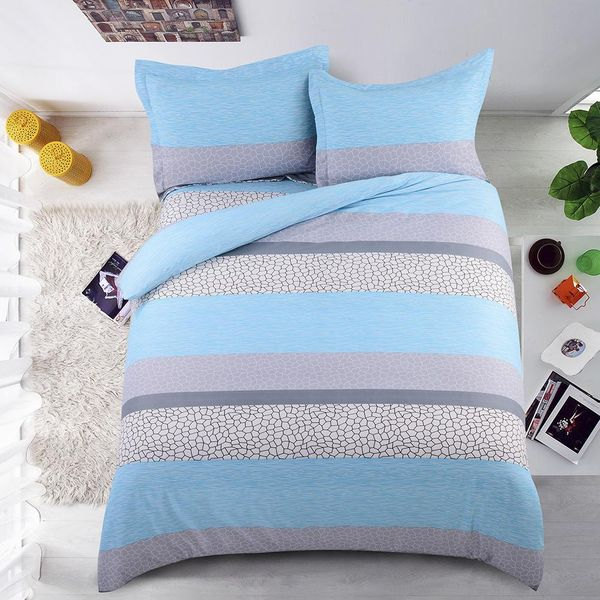 Softest Multi-Bed Bed Stripe Comforter Duvet Cover Pillowcase Twin/Queen/King NHSP134524