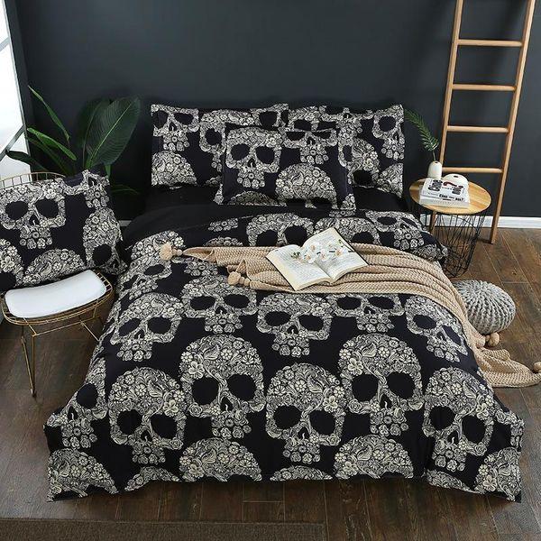 Softest 4 piece bed set bone comforter duvet cover sheets pillowcase US/EU size NHSP134542