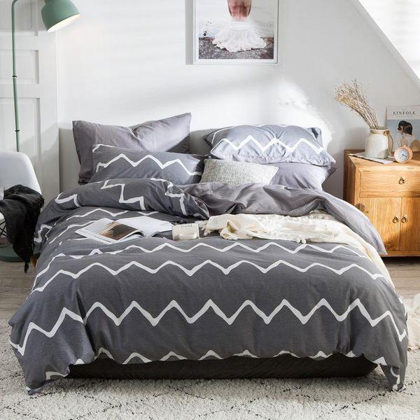 Softest 3 piece bed set cotton comforter duvet cover pillowcase EU/US size NHSP134555