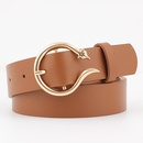Fashion woman leather metal buckle belt strap for dress jeans NHPO134126