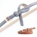 Fashion woman faux leather metal buckle thin belt strap for jeans dress multicolor NHPO134166