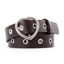 Fashion woman faux leather heartshaped buckle air hole belt for jeans dress multicolor NHPO134175