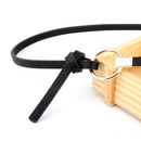 Fashion woman faux leather metal round buckle thin belt strap for jeans dress multicolor NHPO134211