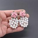 Creative Pineapple Long Tassel Beads Earrings NHNT134315