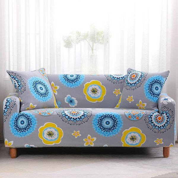 Comfortable printed sofa cover slipcover cushion for multiple seats NHSP134616