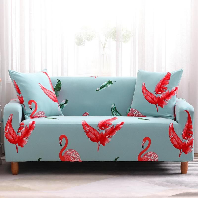 Comfortable flamingo sofa cover slipcover cushion for multiple seats NHSP134619