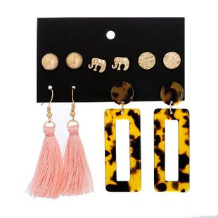 Womens Geometry Electroplating Alloy Earrings NHSD134638's discount tags