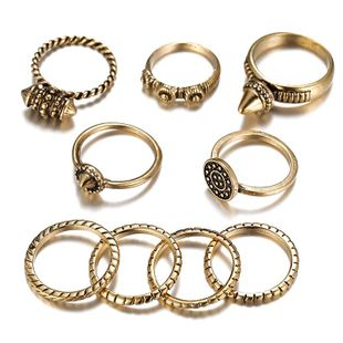 Womens Geometric Plating Alloy Rings NHSD134673's discount tags