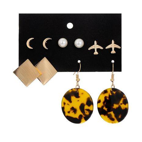 Creative Metal Beads Airplane 5 pares de tachuelas Set NHSD134702's discount tags