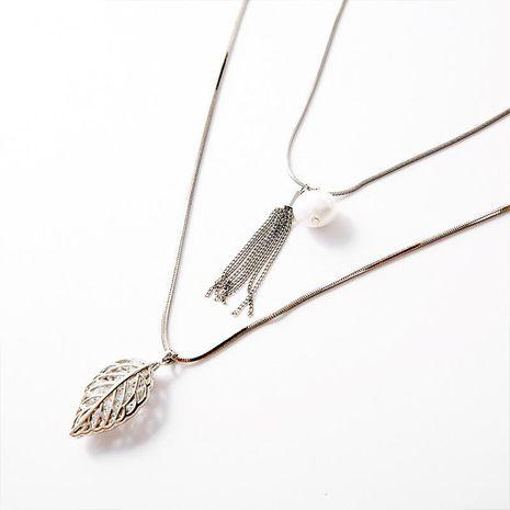 Collar de perlas con flecos de moda NHLL134712's discount tags