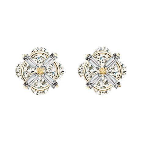 Aretes de aleación de chapado geométrico de las mujeres NHLL134731's discount tags